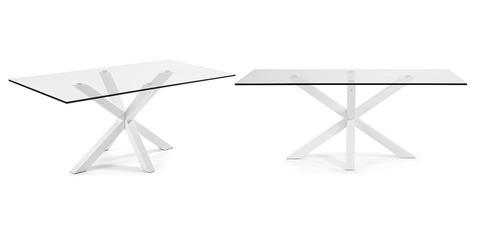 Белый стеклянный стол Arya