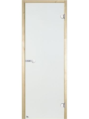 Дверь стеклянная Harvia 7х19, коробка ольха, стекло прозрачное, артикул D71904L