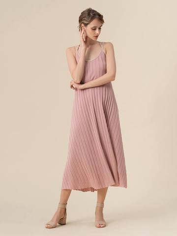 Женское платье светло-розового цвета из вискозы - фото 2