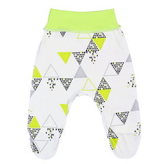 Mini Fox. Комплект швами наружу 3 предмета боди с короткими рукавами, зеленые треугольники вид 3
