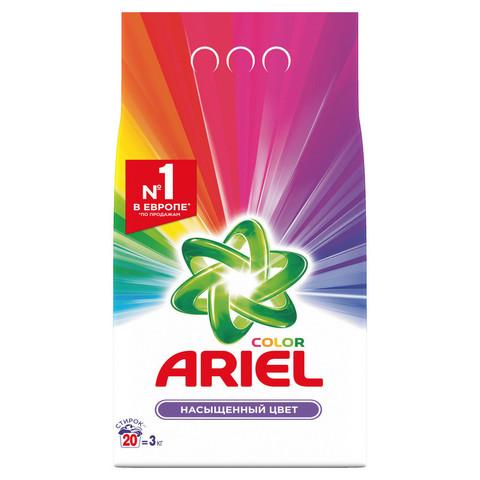 Порошок стиральный автомат Ariel Color 3 кг (отдушки в ассортименте)