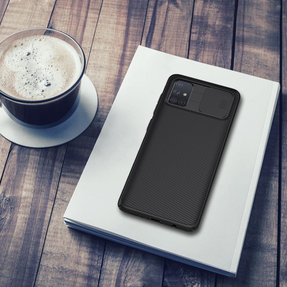 Чехол для смартфона Samsung Galaxy A71 от Nillkin серии CamShield Case с защитной крышкой для задней камеры