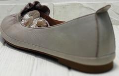 Женские кожаные балетки туфли на низком ходу Wollen G036-1-1545-297 Vision.