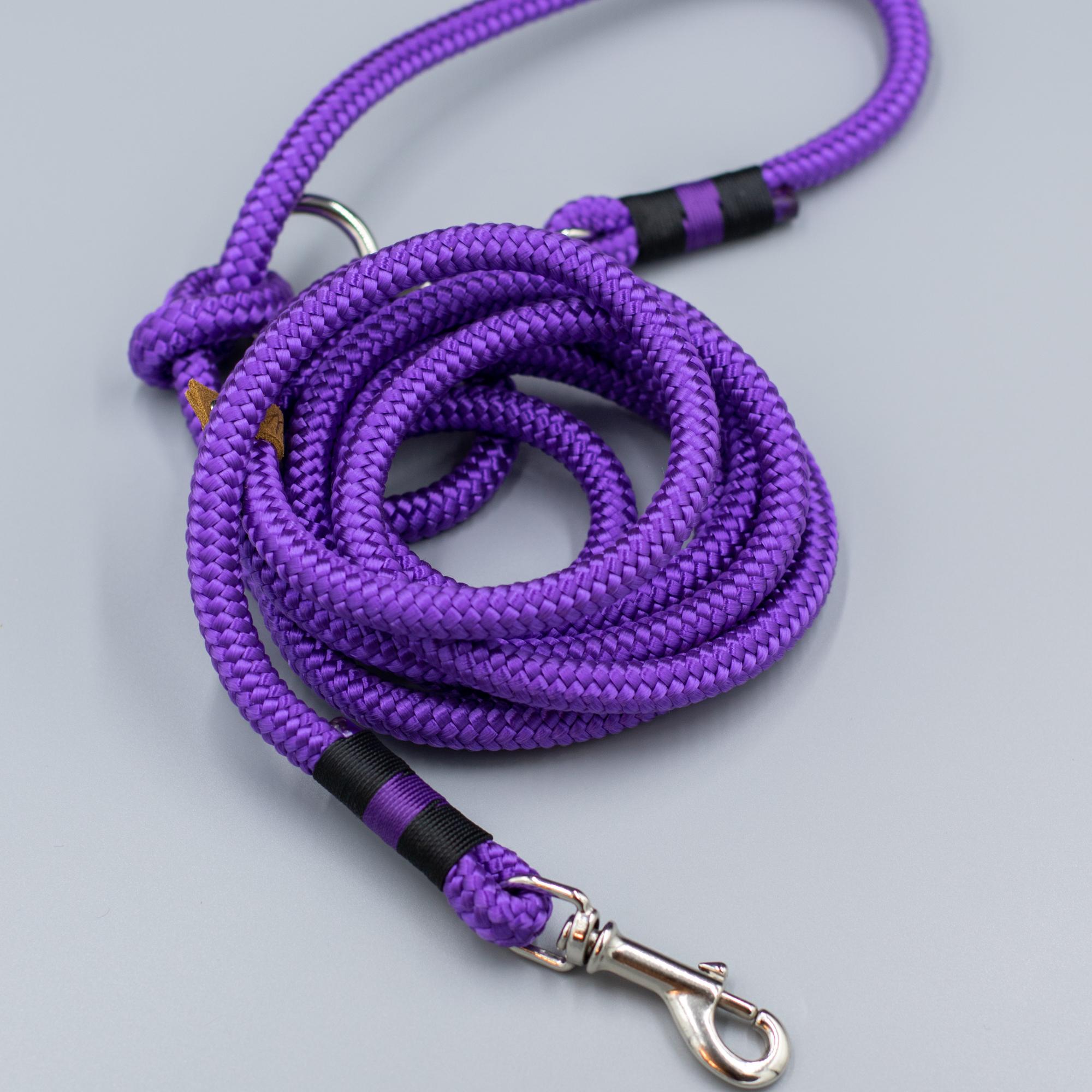 Поводок из корда. Фиолетовый
