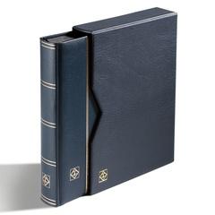 Альбом для марок PREMIUM на 64 страницы формата A4. Смягченная кожаная обложка, с шубером (защитной кассетой). Промежуточные листы - прозрачный пластик.