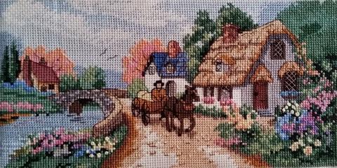 Набор для вышивания Тихая деревня. Арт. 1010