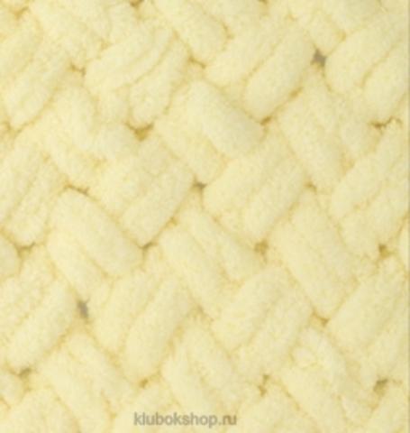 Пряжа Puffy Alize 13 Светлый лимон - толстая бархатистая пряжа для вязания руками. Купить в интернет-магазине недорого klubokshop.ru