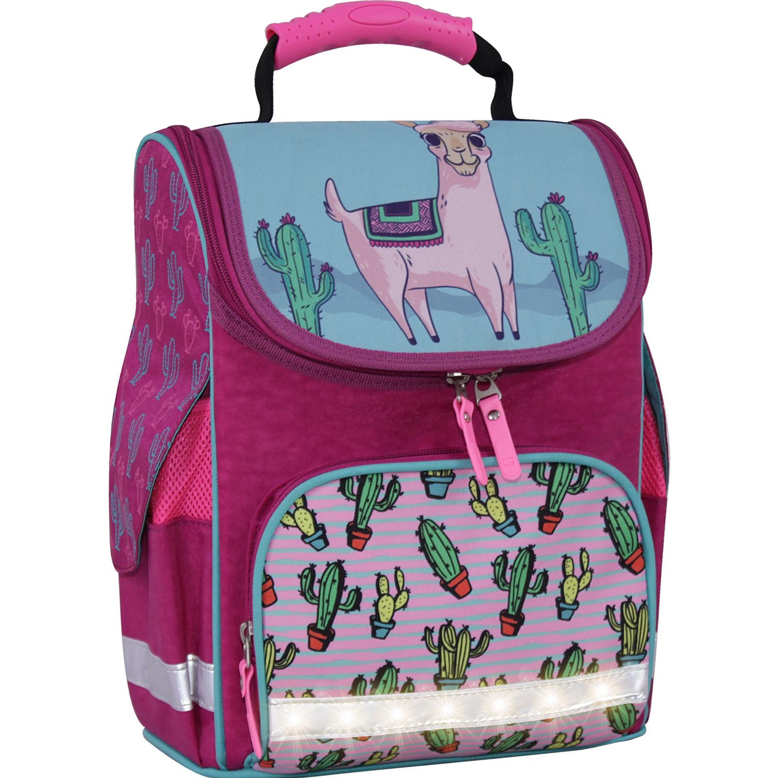 Школьные рюкзаки Рюкзак школьный каркасный с фонариками Bagland Успех 12 л. малиновый 617 (00551703) IMG_3765свет.суб617-1600.jpg