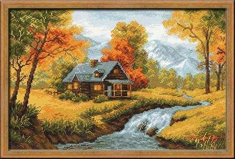 Набор для вышивания крестом «Осенний пейзаж» (1079)