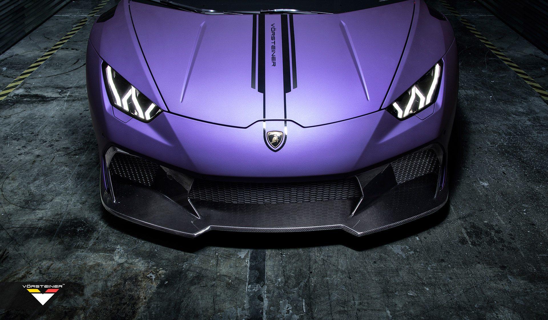 Карбоновый передний бампер и спойлер Novara Style для Lamborghini Huracan