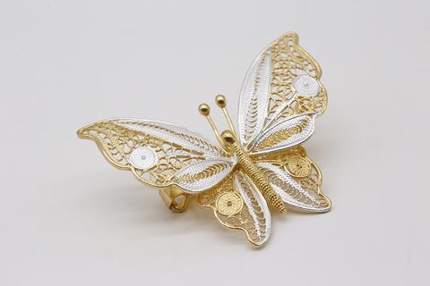Брошь филигранная Бабочка из серебра 3006000040