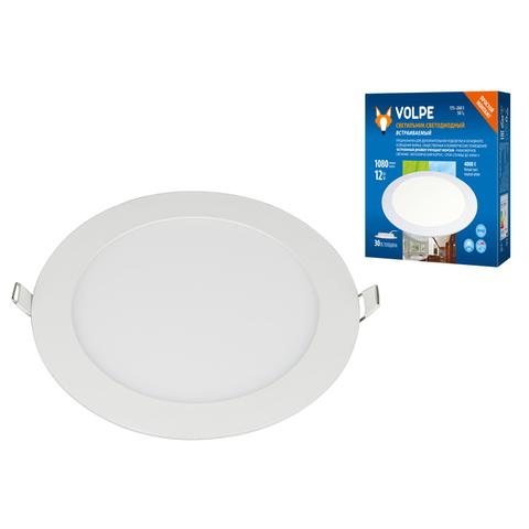 ULM-Q236 12W/4000K WHITE Светильник светодиодный встраиваемый. Белый свет (4000К). Корпус белый. ТМ Volpe.