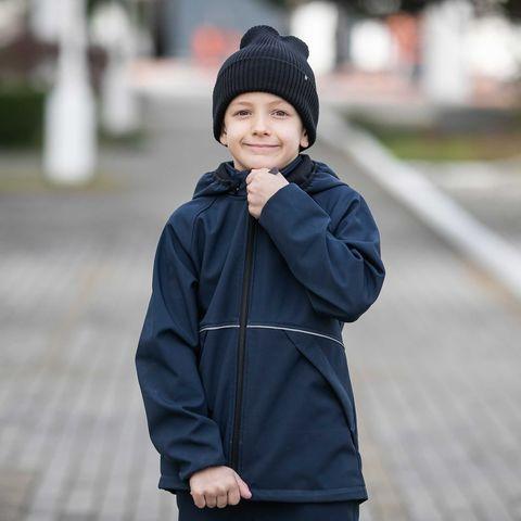 Softshell demi-season jacket for teens - Deep Blue