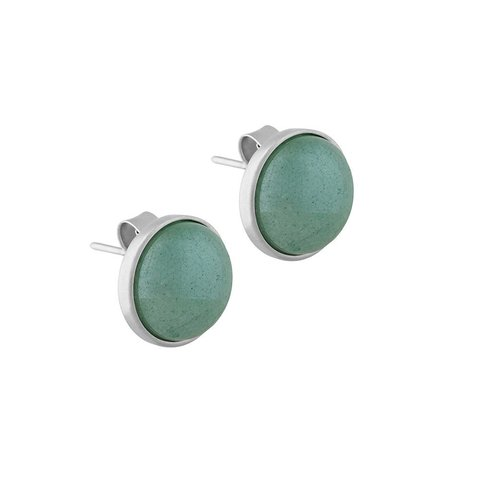 Пусеты Pearl Green Quartz A1992.16 G/S