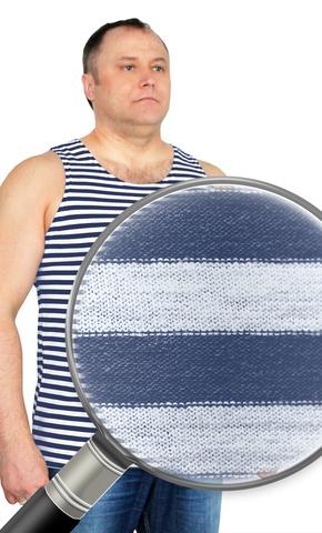 Майка-тельняшка кулирка синяя полоса