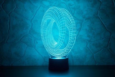 3D светильник Абстракция #7