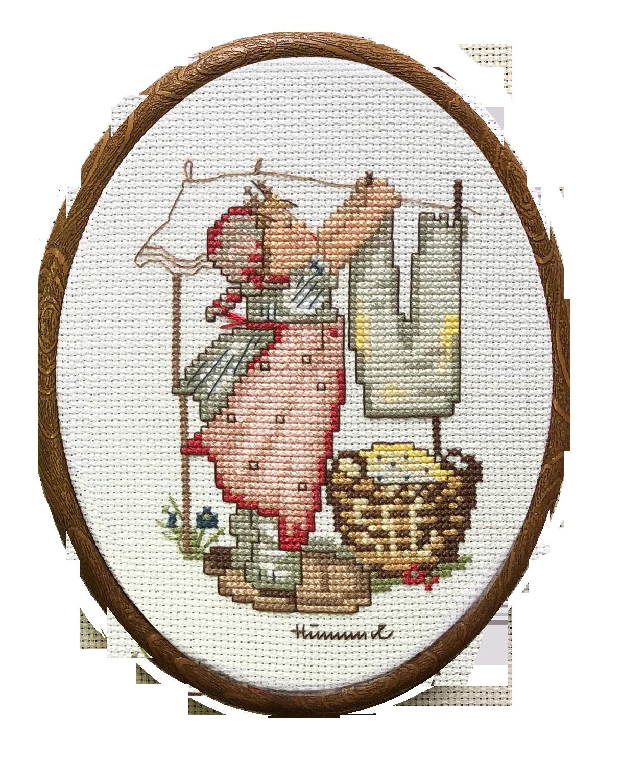Наборы для вышивания с рамками Постирушка и Письмо Деду Морозу
