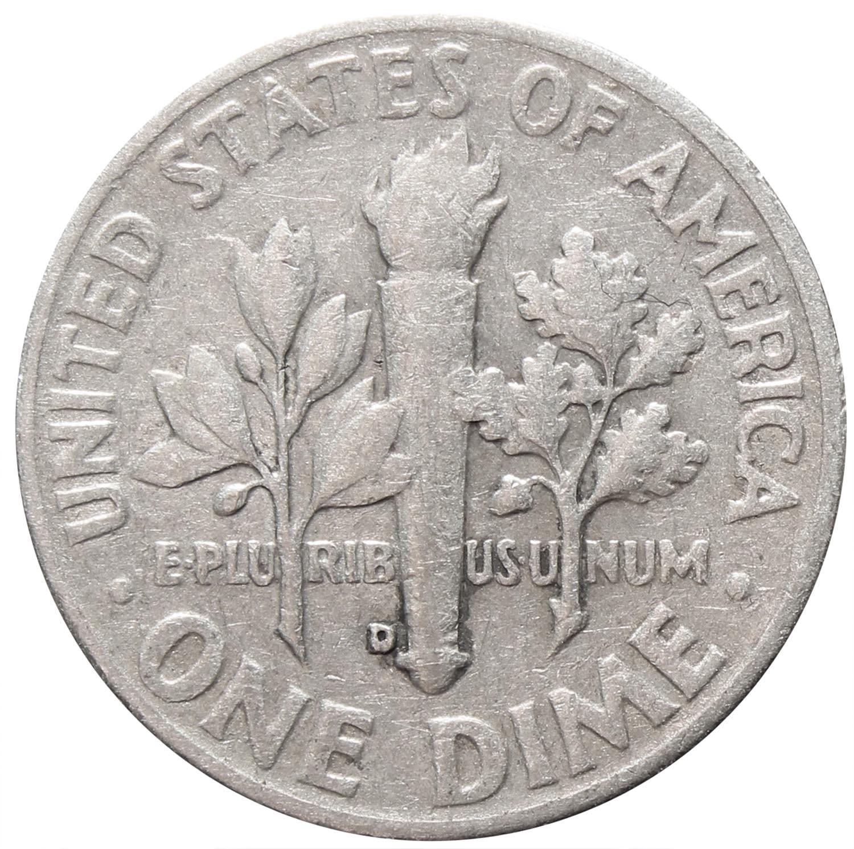 1 дайм (10 центов) 1953. США (D) VF Серебро