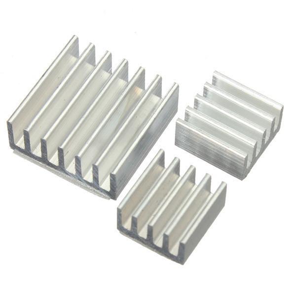Радиатор охлаждения алюминиевый 14х14х6 мм, серебристый