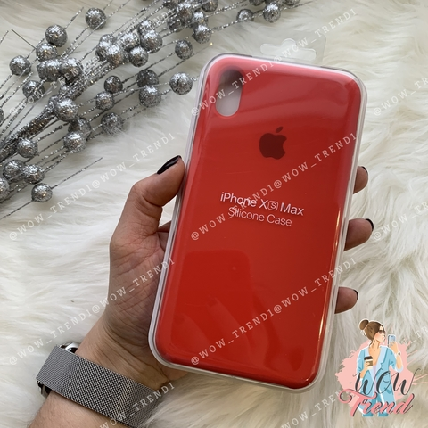 Чехол iPhone XS Max Silicone Case /red/ красный 1:1