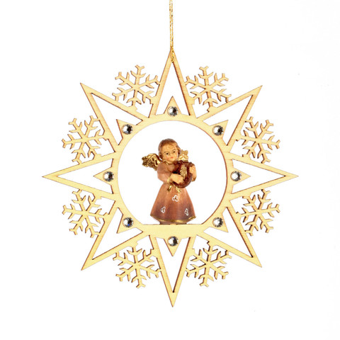 Ангел с лирой со стразами Сваровски