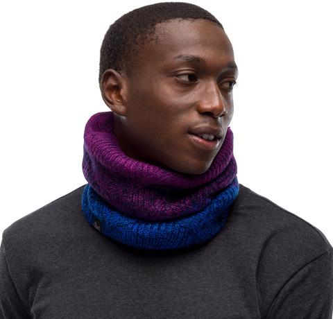 Вязаный шарф-труба с флисом Buff Neckwarmer Knitted Polar Masha Purplish фото 2