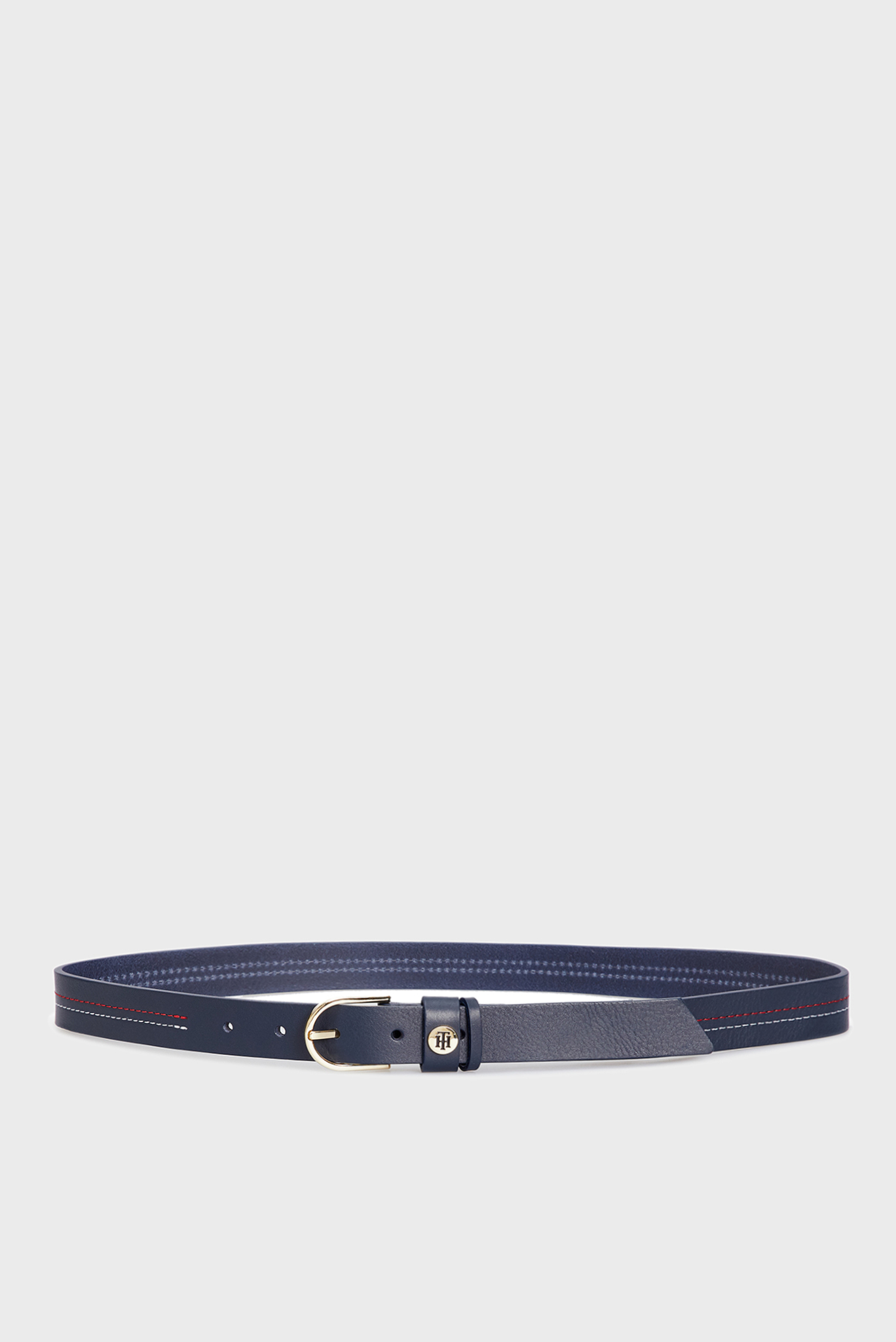 Женский темно-синий кожаный ремень CLASSIC Tommy Hilfiger