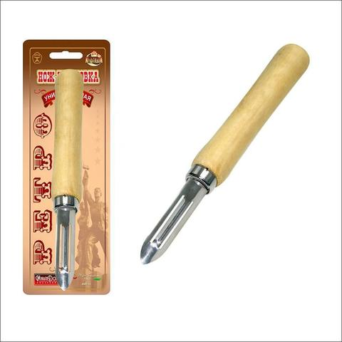 Овощечистка с деревянной ручкой РЕТРО - Мультидом