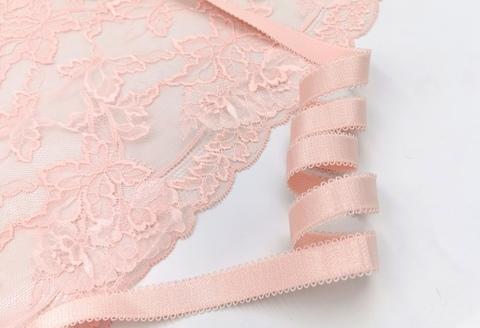 _Бретелечная резинка, с фестоном, 14мм, светло-розовый (Артикул 642/14R-927), м
