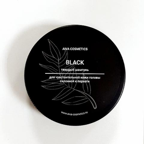 AIVA BLACK \ твердый шампунь\упаковка стандарт, 50 гр