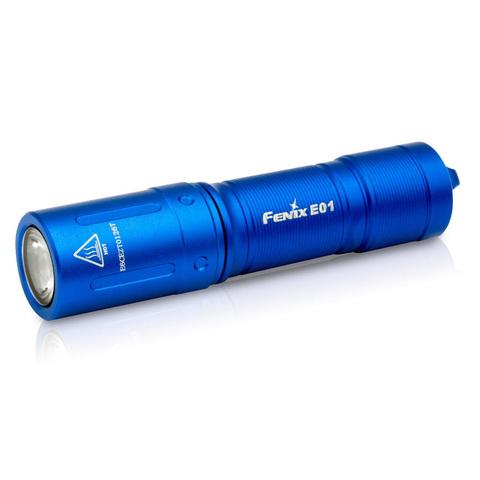 Фонарь светодиодный Fenix E01 V2.0, синий, 100 лм