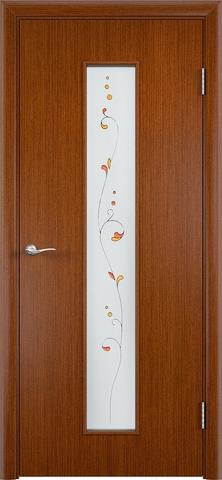 Дверь С-21 (макоре, остекленная шпон файн-лайн), фабрика Верда