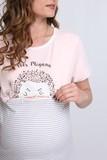 Ночная сорочка для беременных и кормящих 09716 пудра