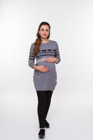 Туника для беременных 07169 серый