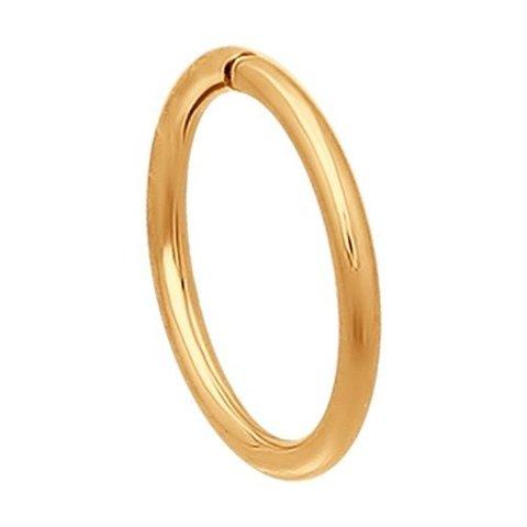 170001- Одиночная серьга-конго из золота 585 пробы