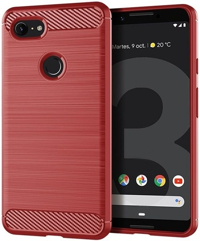 Чехол Google Pixel 3 цвет Red (красный), серия Carbon, Caseport
