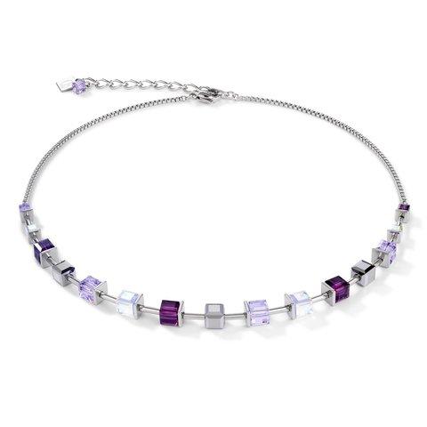 Колье Amethyst 4996/10-0824 цвет фиолетовый, прозрачный