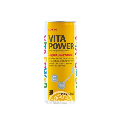 Напиток негазированный Vita Power витаминизированный 240мл Lotte Корея