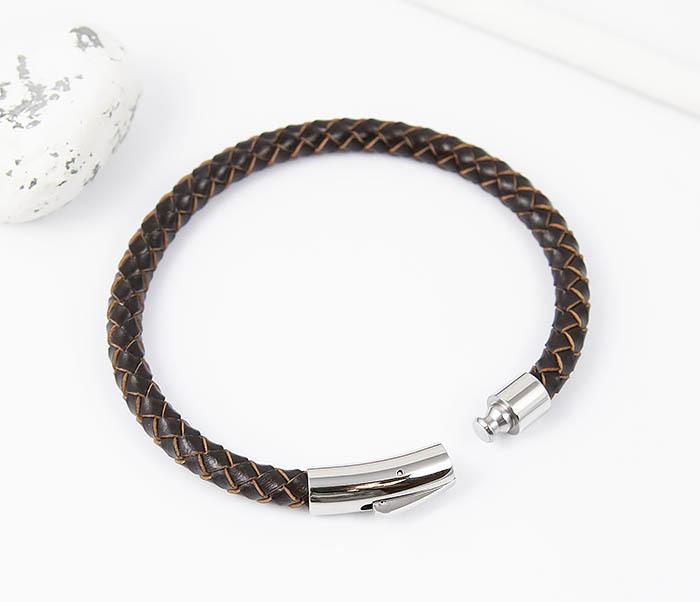 BM517-2 Браслет из коричневого шнура на застежке (22 см) фото 02