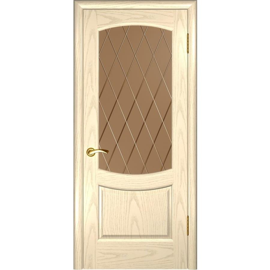 Шпонированные двери Межкомнатная дверь шпон Luxor Лаура 2 дуб слоновая кость остеклённая laura-2-do-slonovaya-kost-dvertsov.jpg