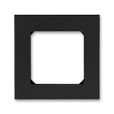 Рамка на 1 пост. Цвет Антрацит / дымчатый чёрный. ABB. Levit(Левит). 2CHH015010A6063