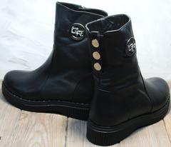 Молодежные зимние ботинки женские G.U.E.R.O G019 8556 Black