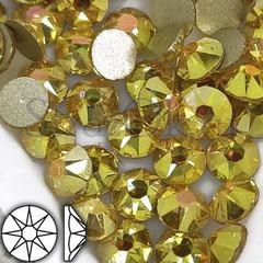 Купить клеевые стразы яркого золотого цвета Sun Shine Gold Xirius 8+8 недорого