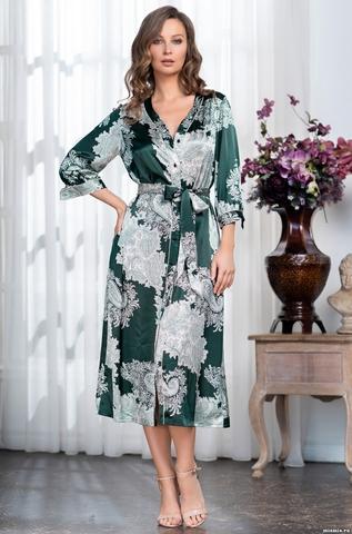Длинный халат на пуговицах  Mia-Amore  AGATA АГАТА 3709