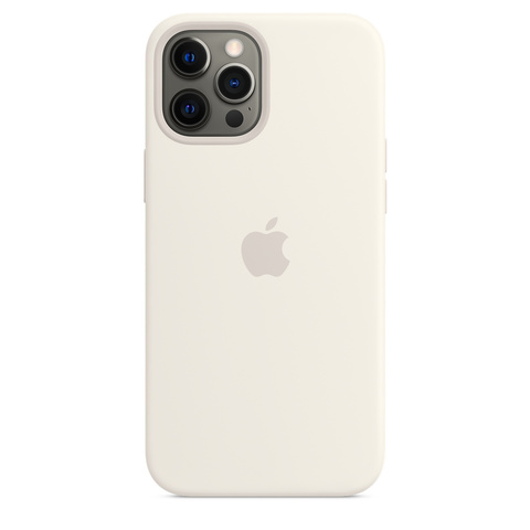 Apple Silicone Case на iPhone 12 Pro Max (Белый)
