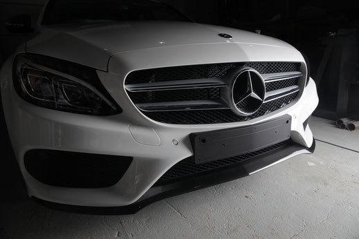 Спойлер переднего бампера для Mercedes W205