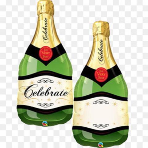 Шар бутылка шампанского