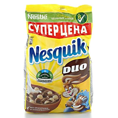 Готовый завтрак NESQUIK Duo 500 гр ДП Nestle РОССИЯ