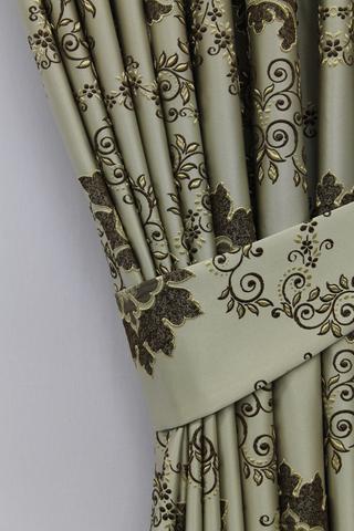 Готовая штора Элина коричневый