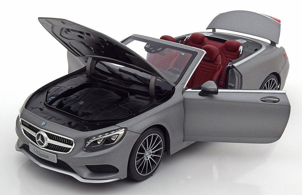 Коллекционная модель Mercedes-Benz C217 S-Klasse Cabrio With Removable Softtop 2015 Flat Silver